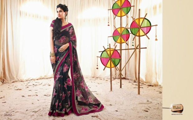 dark colored saree